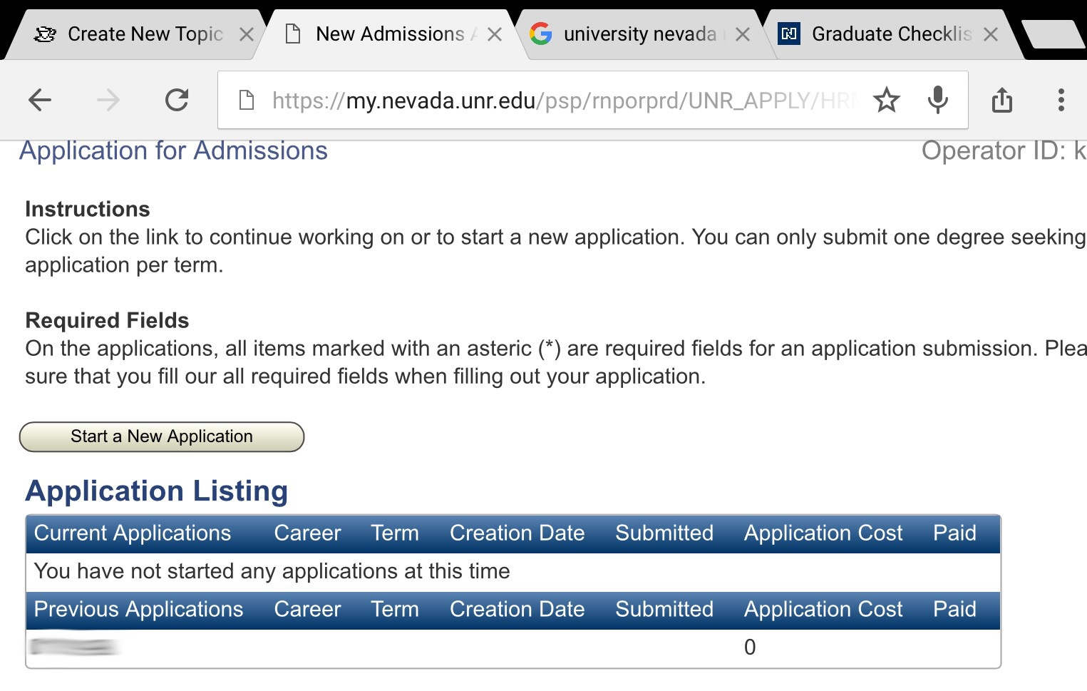 University Of Nevada Reno Online Application Status Error Waiting It Out The Gradcafe Forums